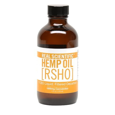 Real Scientific Hemp Oil 10% Gold Label 1000mg Liquid Bottle
