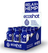 Drink Package ECOSHOT Relax + Hemp 12ct